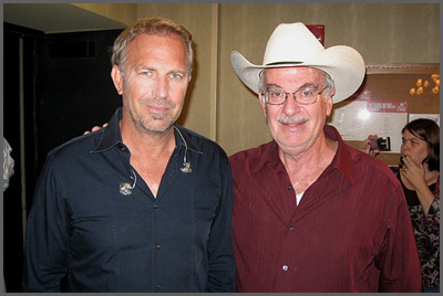 Kevin Costner and Herb Sudzin