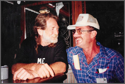 Willie Nelson and Herb Sudzin